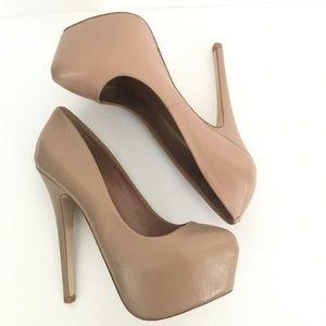 Steven Madden Dejavu nude platform heels stiletto